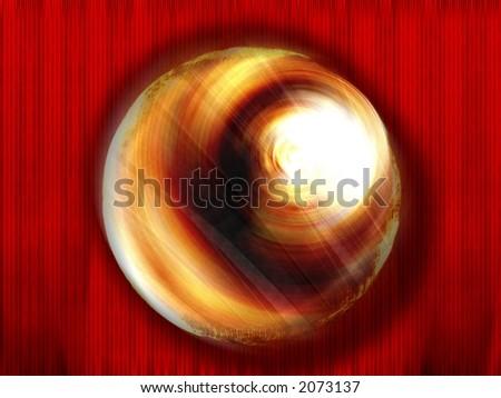 Golden Sphere - High Resolution Illustration.