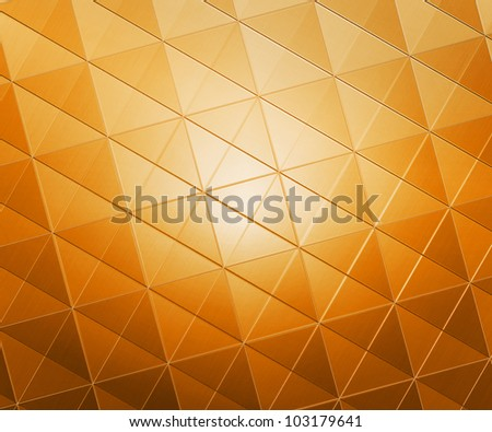 Golden Squares Abstract Background