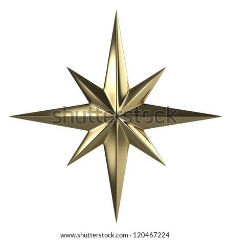 Golden star  isolated with clipping path #120467224