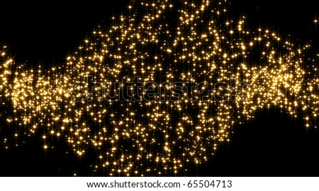 Golden stars background illustration