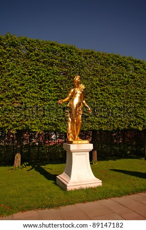 Golden Statue of Madonna in Schwetzingen