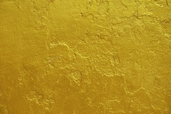 golden statue painted cracked texture