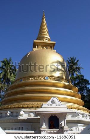 Golden stupa in Badulla, Sri Lanka