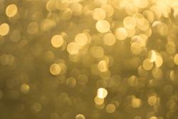 golden sun bokeh blur