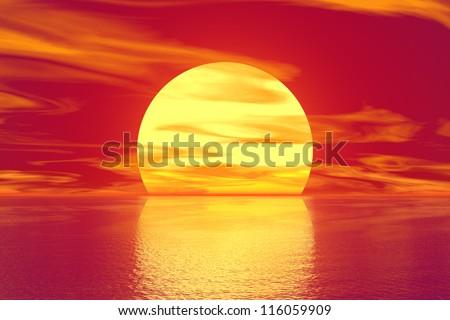 Golden sunset #116059909