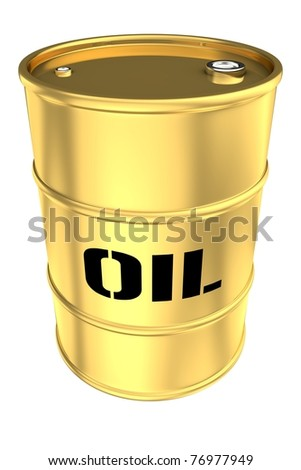 Golden tank isolated on white background - stock photo