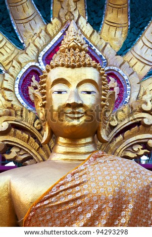 Golden temple statue in Laos
