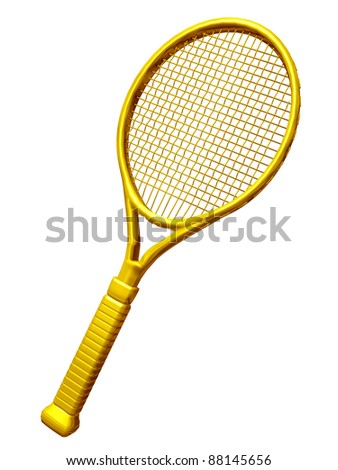 golden Tennis racket