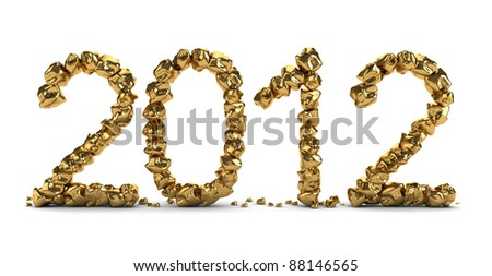 golden 2012 text isolated