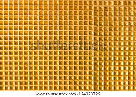 Golden tile background