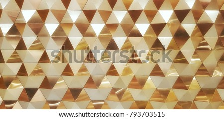golden triangle mosaic  #793703515