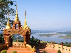 Golden triangle viewpoint is border of three countries, Thailand, Laos and Myanmar.