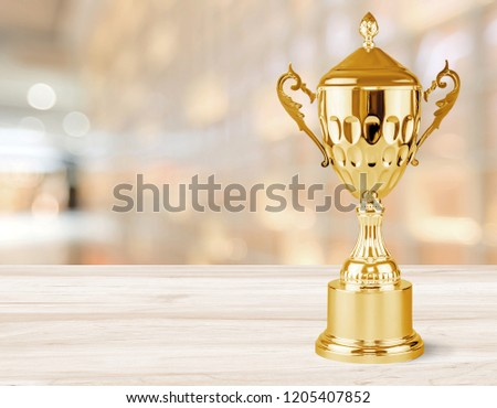 Golden trophies object on background #1205407852