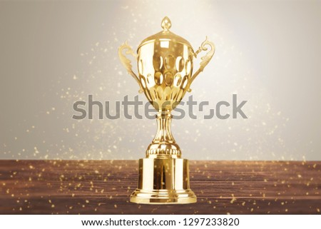 Golden trophies object on background #1297233820