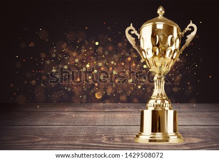 Golden trophies object on background #1429508072
