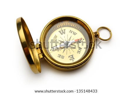 Golden vintage compass