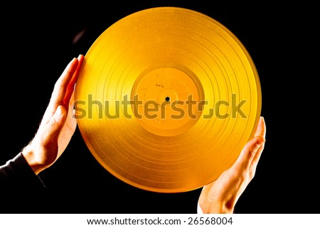 Golden vintage vinyl