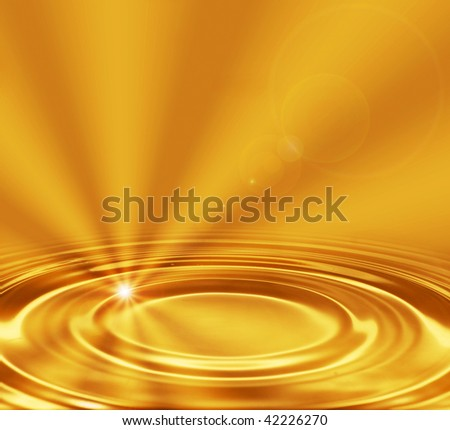 golden waves with light and rays