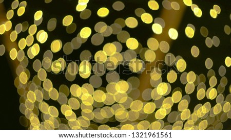 golden yellow party lights celebrations abstract background - for use with titles, logos and presentation background slides #1321961561