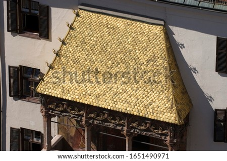 Goldenes Dachl in Innsbruck Tyrol Austria Zdjęcia stock ©
