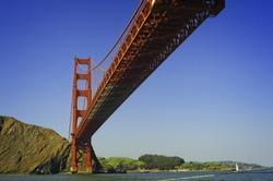 GoldenGate Bridge from underneath