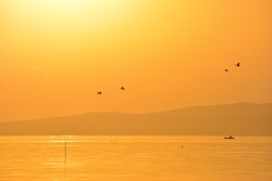 Goldenhour sunset at the lake