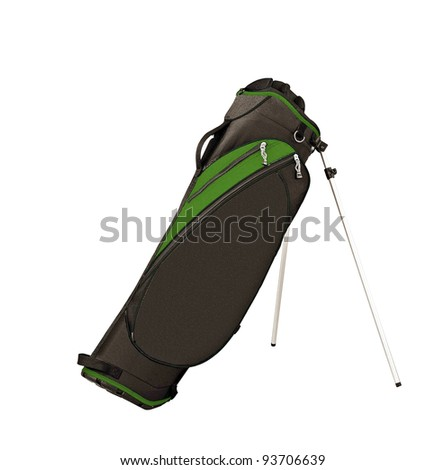 Golf bag isolated