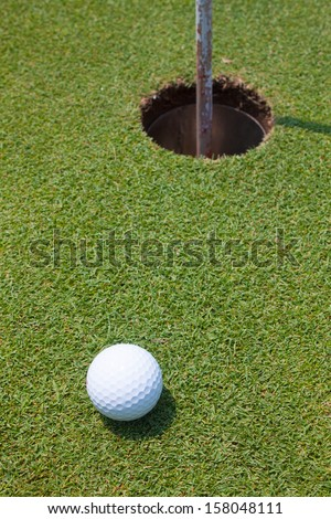 golf ball and hold sport portrait
