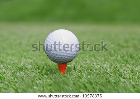 Golf Ball Close-up, Extremely Shallow DOF
