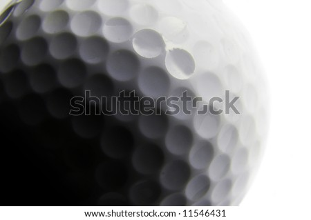 golf ball closeup, in black and white