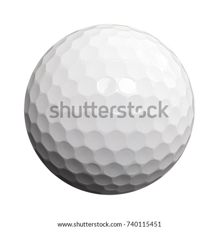 golf ball isolated object white background with saved path #740115451