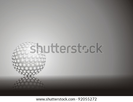 golf ball isolated on white and black
