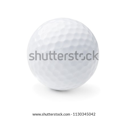 Golf ball isolated on white background #1130345042