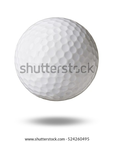 Golf ball isolated on white background #524260495