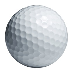 Golf ball isolated on white wiht Clipping path