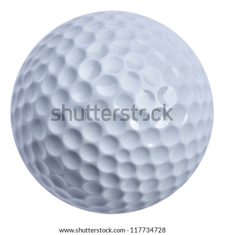 Golf ball isolated with clippin path, real golf ball not 3D rendering