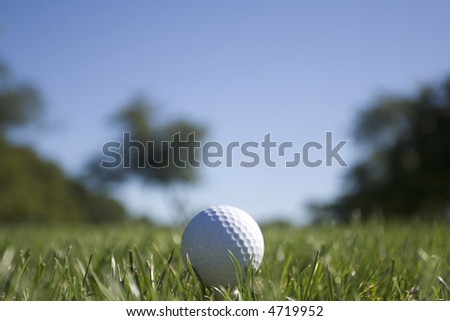 Golf Ball - Landscape Orientation (see 4719955 for Portrait Orientation)