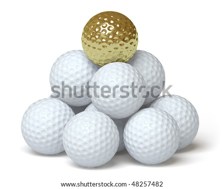 golf ball on a white surface. In my portfolio there is collection of pictures of sport themes and gold. You only enter IN a SEARCH the Photographer Name: PAVEL IGNATOV and keyword: SPORT or GOLD