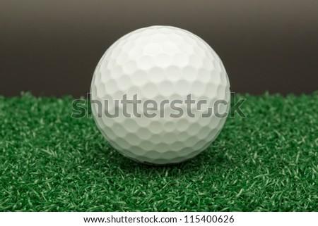 Golf ball on artificial turf