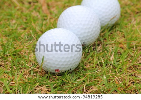 golf ball on sports golf course