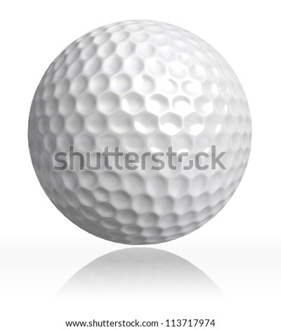 golf ball on white background. clipping path included