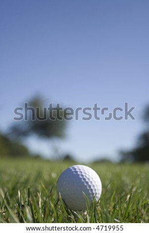 Golf Ball - Portrait Orientation (see 4719952 for Landscape Orientation)