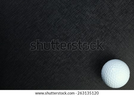 Golf ball represent the golf as a sport equipment concept and related idea.