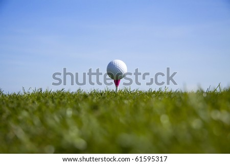 Golf ball tee up