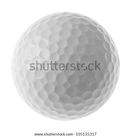 golf ball with clipping path