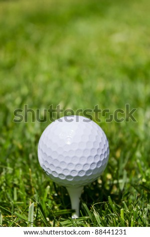 Golf ball with copy space