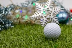 Golf ball with snow flake for Christmas Holiday