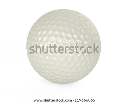 golf balls isolated 3d illustration