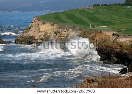 Golf By The Sea 5 - stock photo
