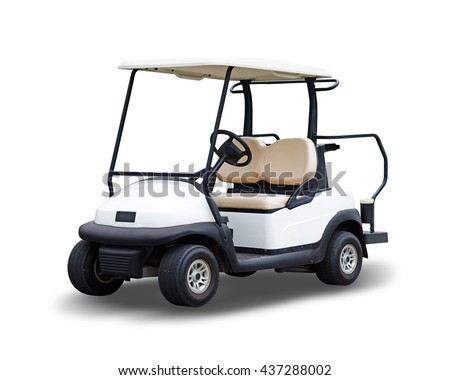 Golf cart golfcart isolated on white background